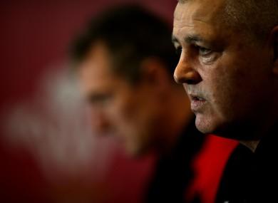 Wales' coach Warren Gatland.