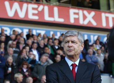 Under pressure: Arsene Wenger.
