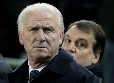 Trapattoni watched his side beat Poland 2-0 recently.