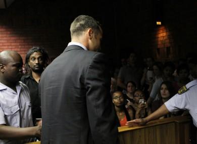 Pistorius in court last Friday.