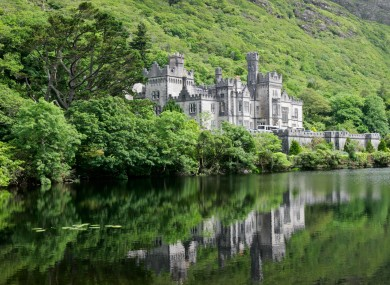 Kylemore Abbey Castle in Galway.