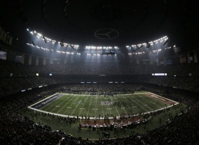 The Superdome was plunged into darkness.