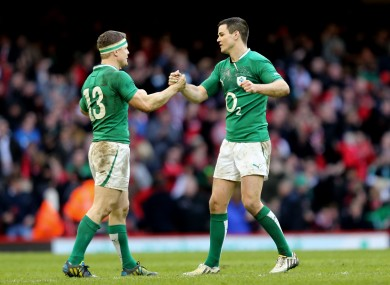 Brian O'Driscoll and Jonathan Sexton start for Ireland.
