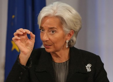 IMF managing director Christine Lagarde during her visit to Ireland two weeks ago.