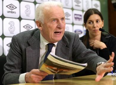 Ireland manager, Giovanni Trapattoni.