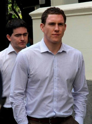 File photo: John McAreavey (centre right) and Mark Harte (centre left), brother of Michaela McAreavey