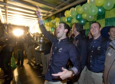 McBrearty celebrating Donegal's All-Ireland win.
