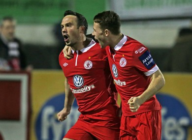 Rafael Cretaro and Lee Lynch celebrate on Tuesday night.