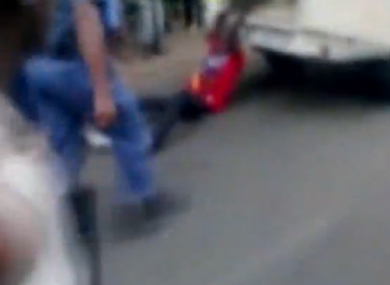 A still from the video of the incident