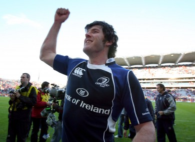 Shane Horgan celebrates a Leinster win in 2009.