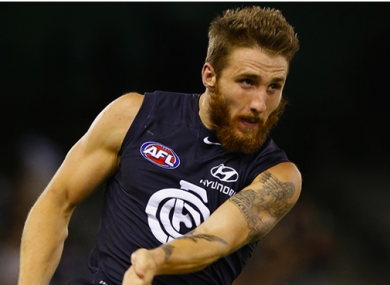 Carlton player Zach Tuohy.