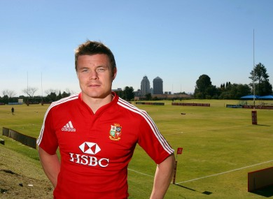 Brian O'Driscoll on the 2009 Lions tour.
