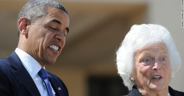 Caption competition: What have Babs and Barack seen?!