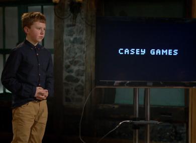Jordan Casey in the Dragons' Den.