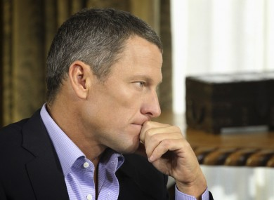 Lance Armstrong gave a TV interview earlier in the year in which he admitted to doping.