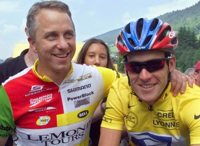 Happier times: Lemond and Lance Armstrong in 1999.
