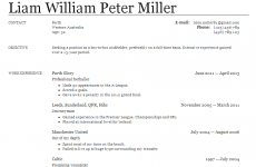 Liam Miller needs a new club – here's what his CV would look like