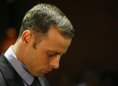 Olympic athlete Oscar Pistorius stands during his bail hearing recently.