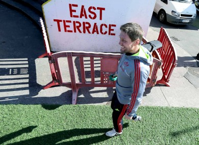 Ronan O'Gara at Musgrave Park today.