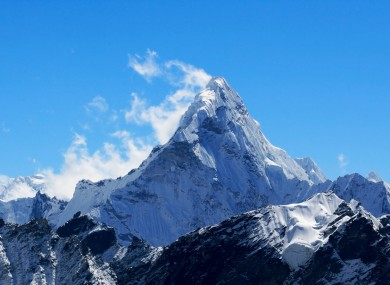 Mount Everest is 8.848 metres tall - but its base camp is 5,364 metres above ground.