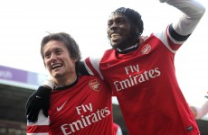 VIDEO: 10-man Arsenal go fourth, Villa escape drop zone as Lowton hits a worldy