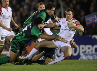Waiting game: Bowe scored again for Ulster last night.