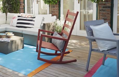 Patio Rocking Chair Outdoor Wooden Furniture Nursery Glider Garden ...