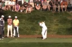 VIDEO: Caroline Wozniacki hasn't been paying attention to Rory's swing