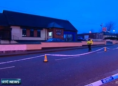 The scene outside the pub in Ballyphehane where Gerard Delaney died in December 2011