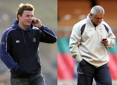Communication breakdown: O'Driscoll and Gatland.