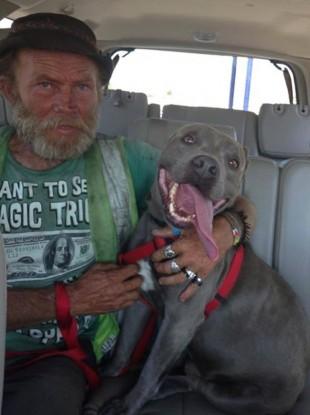 James Bryan reunited with pitbull Handover.