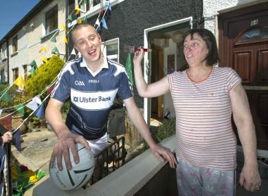 Kerry's Kieran Donaghy with Carmel Buckley from Clonliffe Avenue.