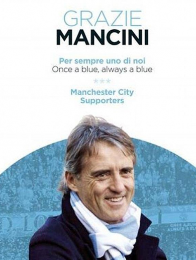 Manchester City fans took out an ad in Gazetta Dello Sport to thank Roberto Mancini