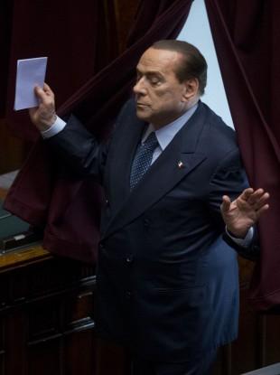 Former Italian Premier Silvio Berlusconi (file photo)