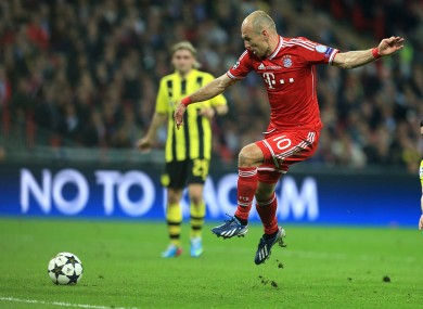 Robben with the winner.