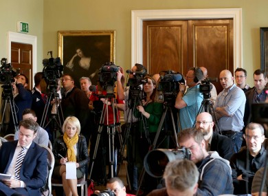 Reporters at Carton House this week.