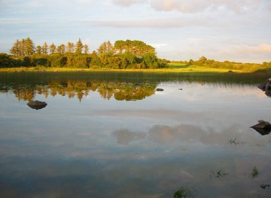 Ballyquirke Lake, near Moycullen in Co Galway where the man drowned.