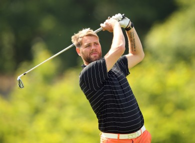 Former Westlife harmony maker Brian McFadden at the Irish Open Pro-Am.