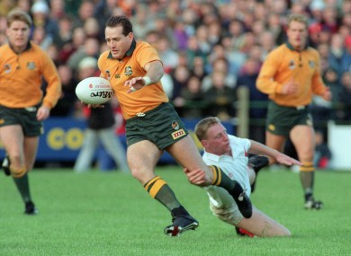 David Campese, pictured here in 1992, played in the 1984 defeat to Ulster.