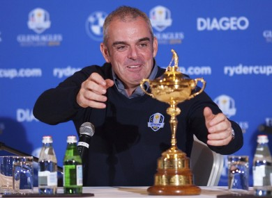 Paul McGinley will captain Europe at the 2014 Ryder Cup.
