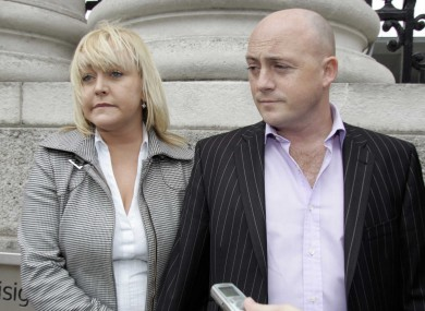 File photo of Audrey Fitzpatrick and partner Dave Mahon.