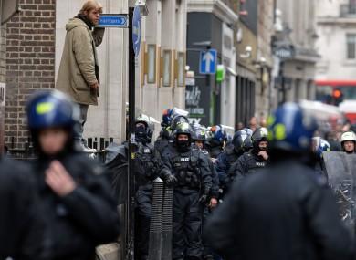 The police operation at Beak Street in Soho