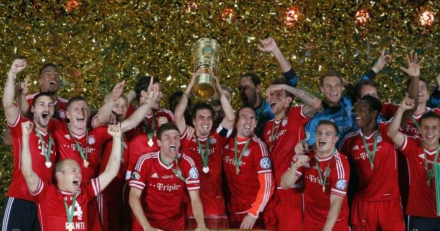 Check out all the goals as Bayern Munich secure a historic treble