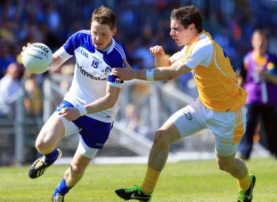 Conor McManus of Monaghan and Kevin O'Boyle of Antrim.