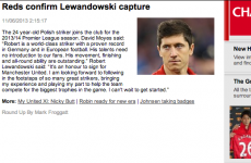 Did the Manchester United website just confirm the Lewandowski transfer by mistake? No