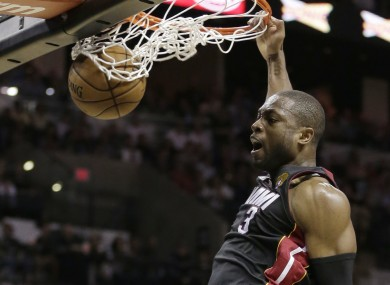 Dwyane Wade dunks last night.