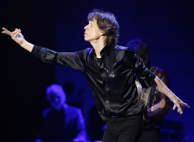 Mick Jagger on stage in Philadelphia earlier this month