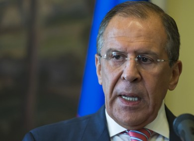 Russian Foreign Minister Sergey Lavrov says the evidence put forth by the United States of chemical weapons use in Syria apparently doesn't meet stringent criteria for reliability