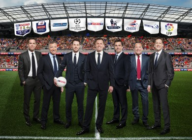 Sky Sports' new line-up for their football coverage.