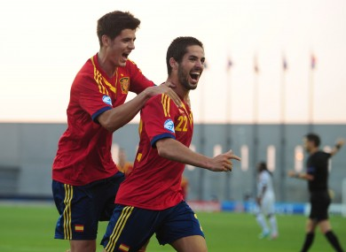 Isco during the U21 European Championships.